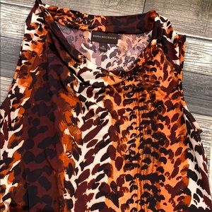Dana Buchman Sleeveless XS Animal Print Shirt